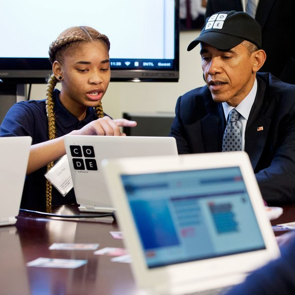 Барак Обама, Google Blockly, программирование, язык программирования, программа, наука, обучение, Барак Обама удивил программистов