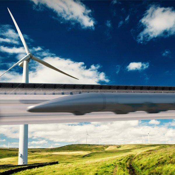 Дизайн, идея, концепт, транспорт, электродвигатель, поезд, путешествия, Перспективы развития вакуумной транспортной системы Hyperloop